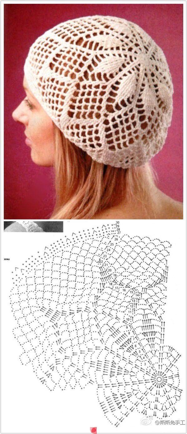 Вязание крючком летней шапочки для женщины