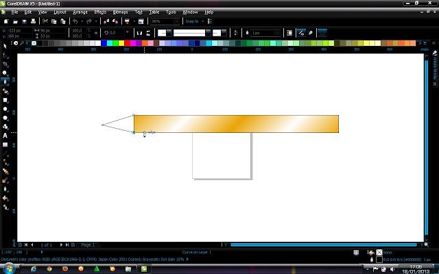 step5.lalu buat lagi bagian lancip ya seperti gambar di bawah ini dan ...
