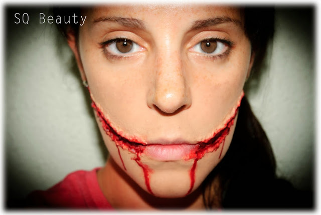 Maquillaje efectos especiales Sonrisa de Joker chelsea special effects makeup Silvia Quiros