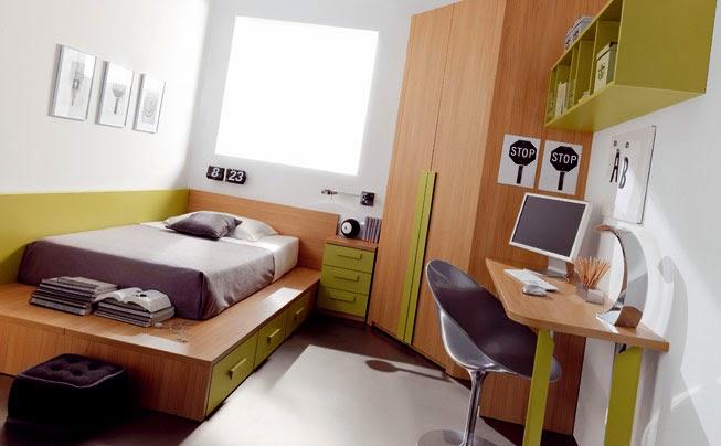 Dormitorios con escritorios funcionales para estudiantes for Habitaciones para universitarios
