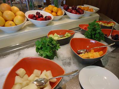Fruits at Assymetri Restaurant, Raddison Blu Hotel Yas Island Abu Dhabi