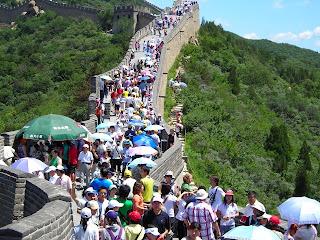 Muralla China, turismo masificado