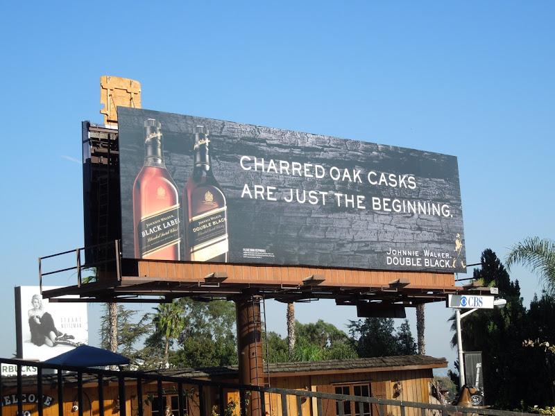 Charred Oak Johnnie Walker Double Black billboard