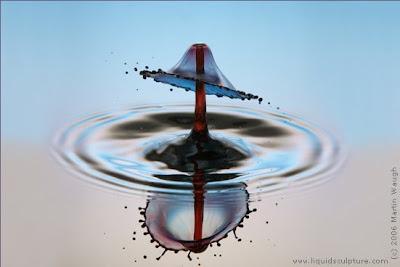 Esculturas con liquidos fotografiadas a alta velocidad