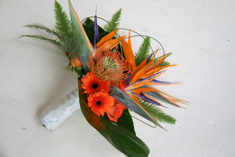 The Flower Magician: Bird of Paradise Wedding Bouquet