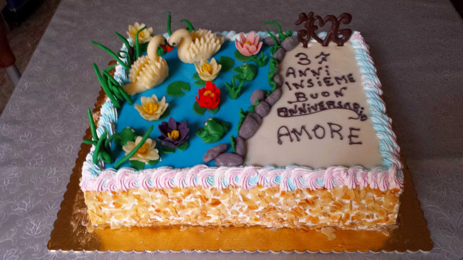 Popolare passione torte: torta gelato per anniversario di matrimonio PQ83