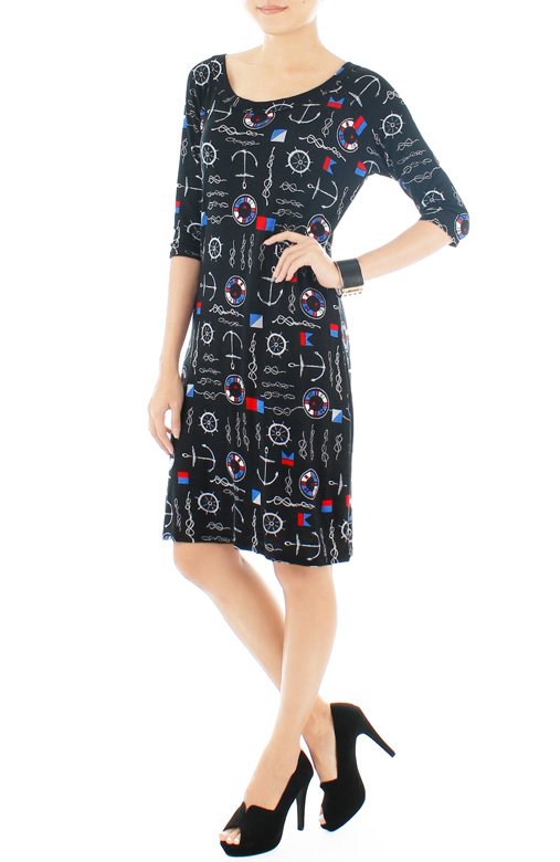 Sail Through My Dreams Dress - Black