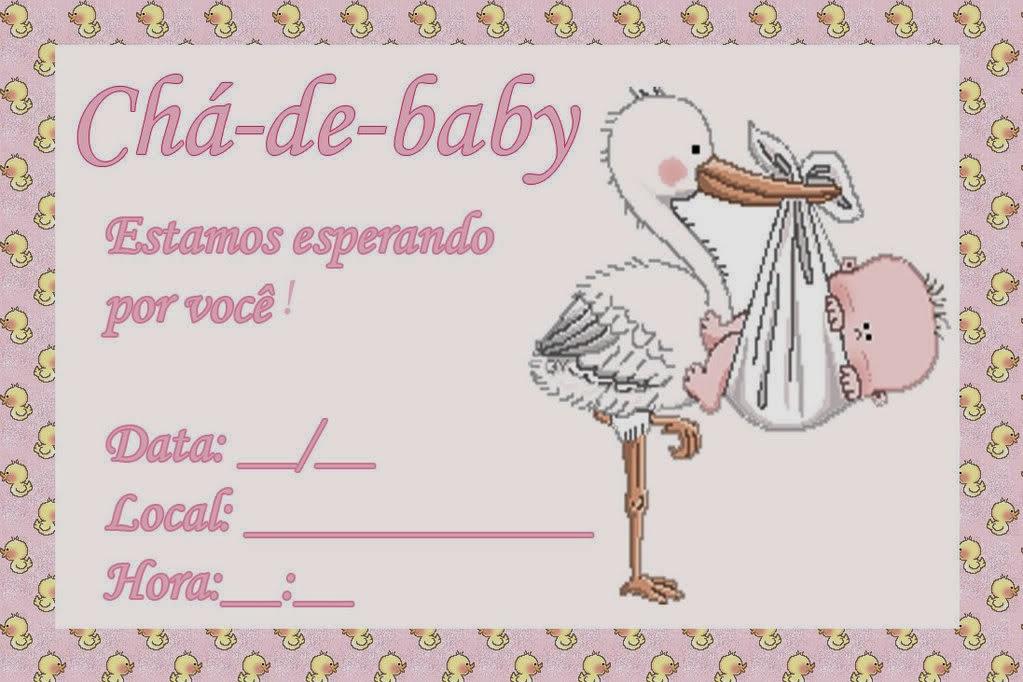 modelos de convites para cha de bebe