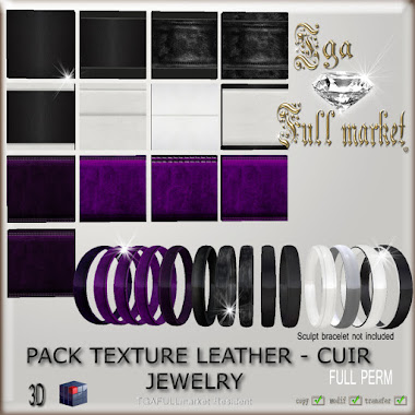 PACK TEXTURE LEATHER - CUIR JEWELRY