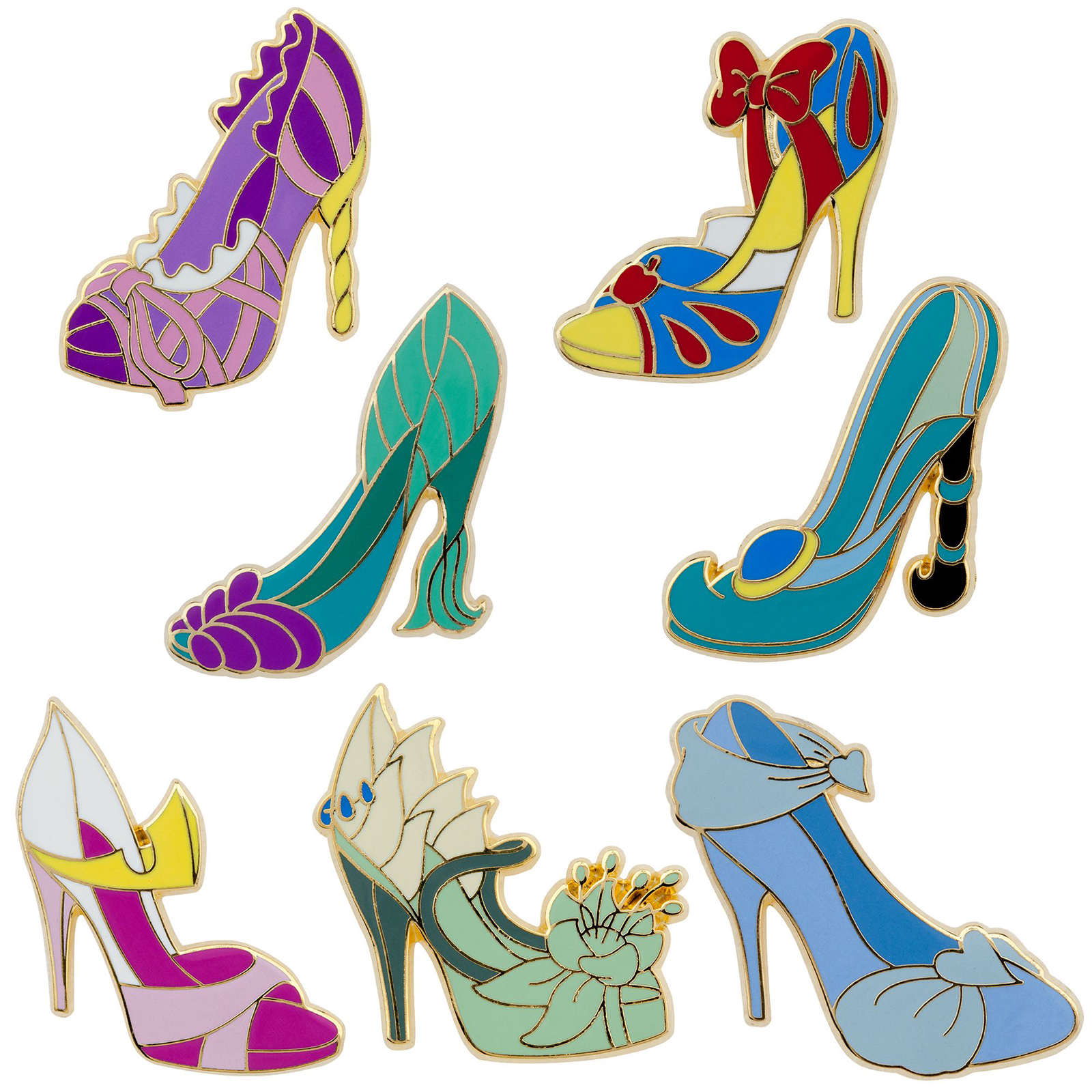 Filmic light snow white archive disney princess slippers pin set the disney princess slippers pin set was released earlier in 2013 set of seven on card slippers inspired by snow white cinderella aurora ariel buycottarizona
