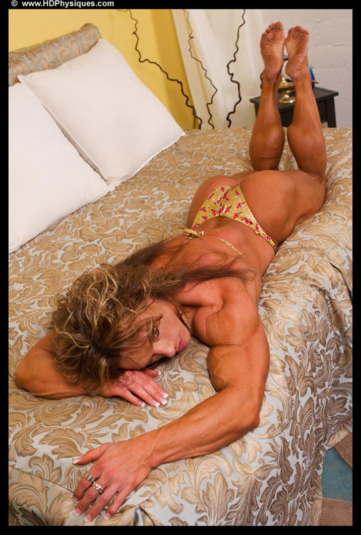 Sheila Bleck Flexing Her Lovely Calves And Modeling Her Muscles