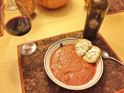 2012 Peju Merlot pairing with Tomato Bisque