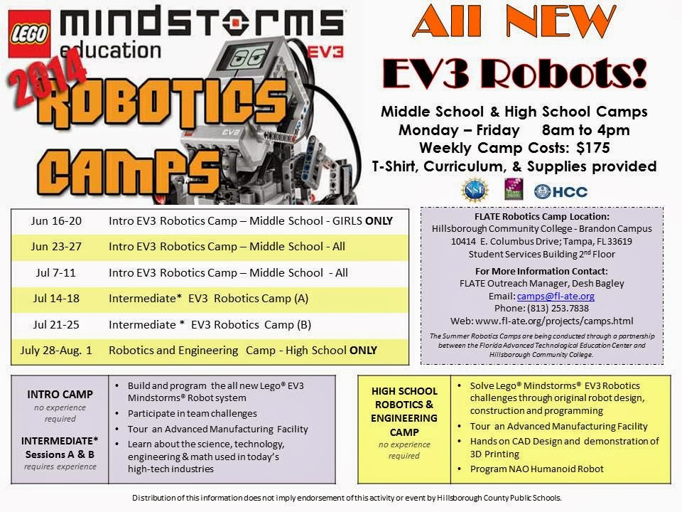 2014 Robotics Camp. Enroll Now!