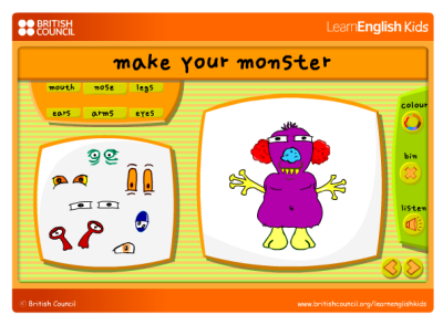 http://learnenglishkids.britishcouncil.org/sites/kids/files/make-your-own-monster.swf