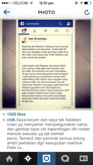Datuk Siti Nurhaliza Kutuk Rakyat Palestin [2]
