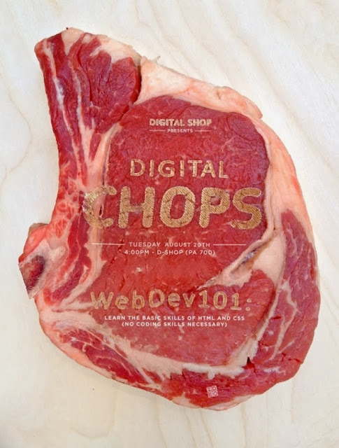 Laser Etched Meat Used For Advertising
