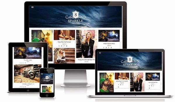 Sparkle Grid Responsive Blogger Template
