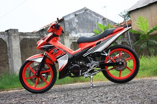Elegan Unik Modif Yamaha Jupiter MX 135LC serta