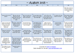 Monthly Motivational Calendar
