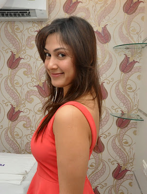 Manjari+(40) Manjari Phadnis Super Hot Photos in Red Dress At The Launch Of Naturals Family Salon & Spa