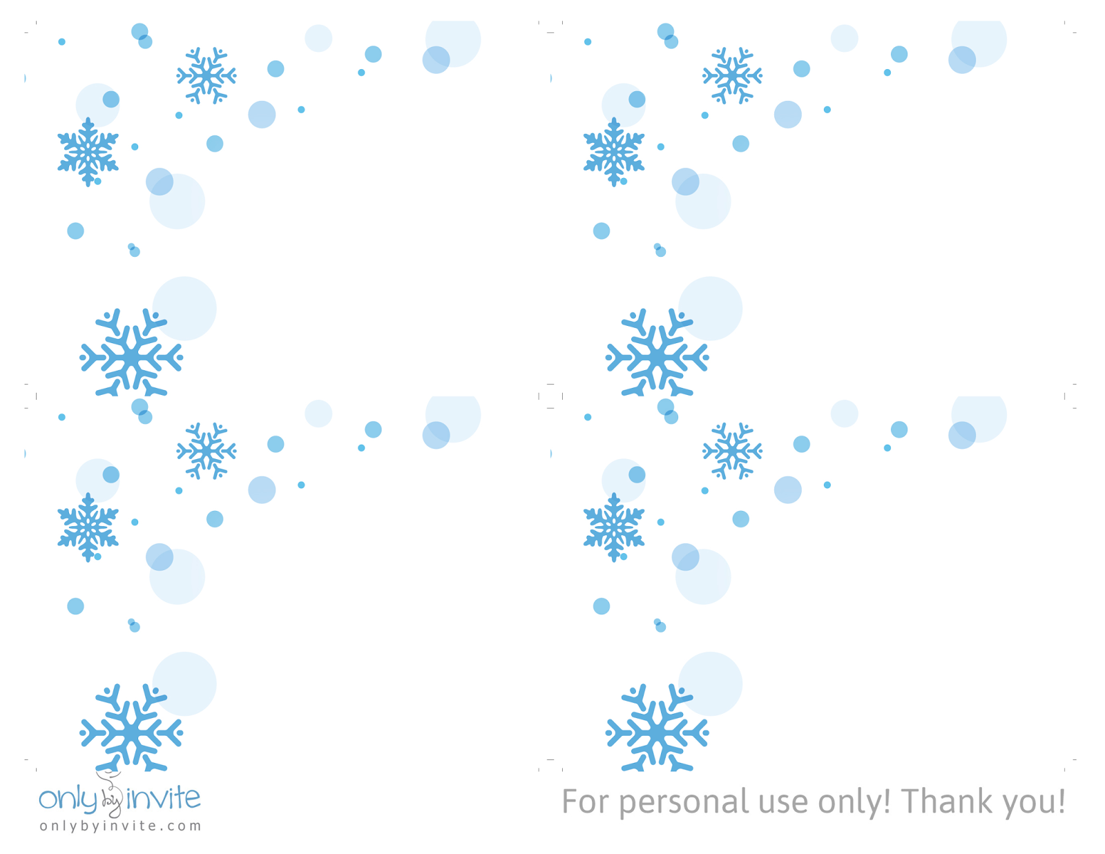Snowflakes   Free Winter Wedding RSVP Card Template  Free Rsvp Card Template