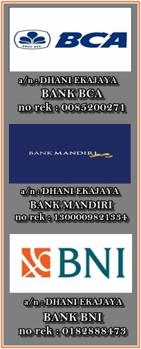 Sistem pembayaran bisa COD atau Transfer via bank