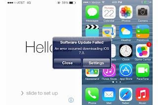 iOS 7 Installation Problem  Not Enough Memory