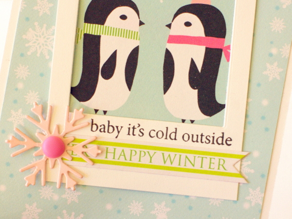 Leigh Penner Chickaniddy Crafts Penguin Card 2