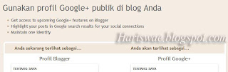 mengganti profil blogger dengan profil google+