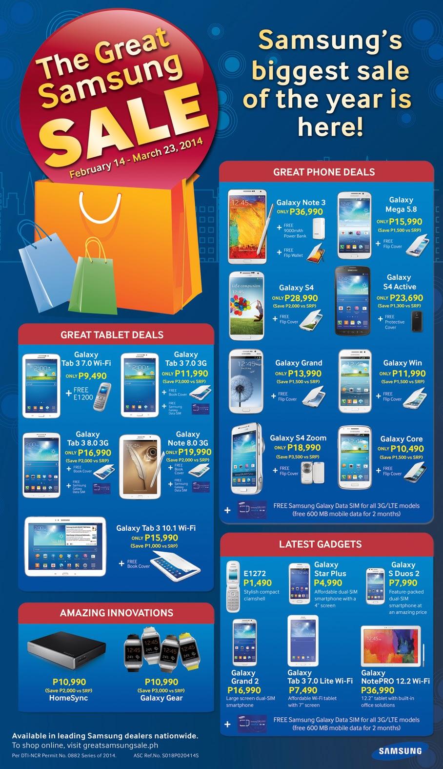 great samsung sale 2014 philippines