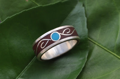 Vida Wood Ring by Marlon Obando Solano, Naturaleza Organic Jewelry 2013