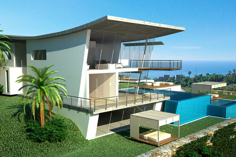 New home designs latest modern villas designs ideas for Contemporary villa plans