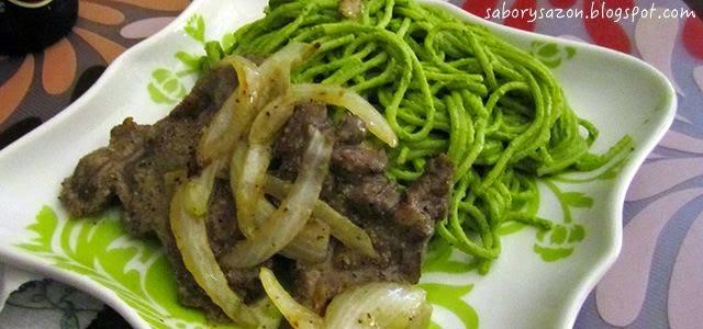 comida peruana RECETA DE TALLARINES VERDES