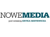 Logo kwartalnika Nowe Media pod redakcją Eryka Mistewicza