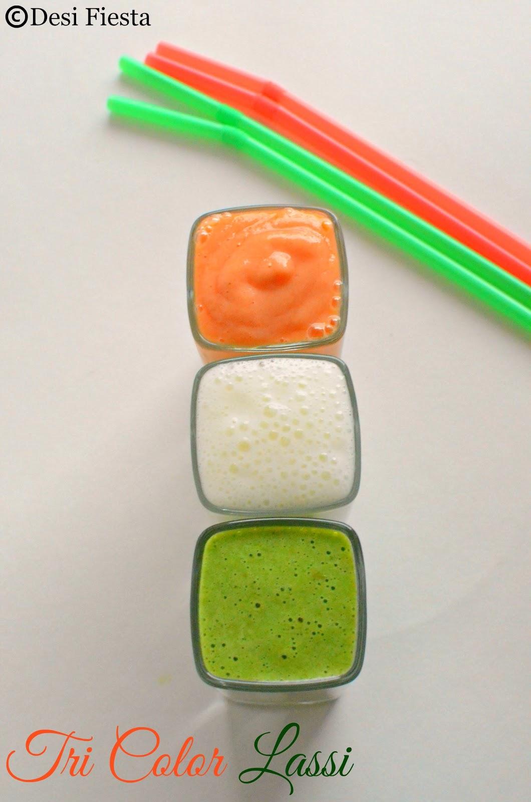Tri color recipes