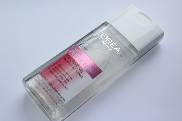Review - L'Oreal Skin Perfection 3 in 1 Purifying Micellar Solution