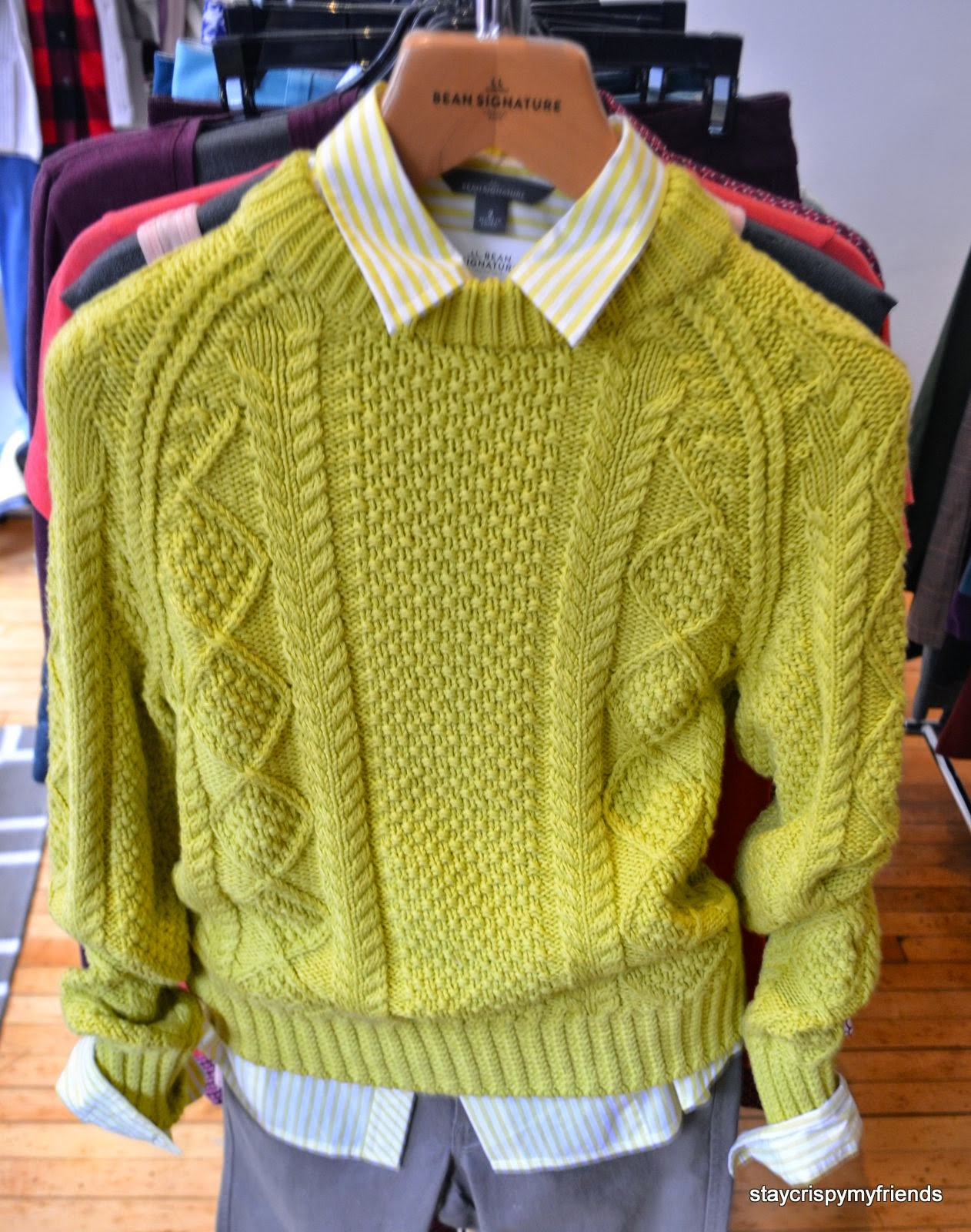 LL Bean Women Fisherman Sweater