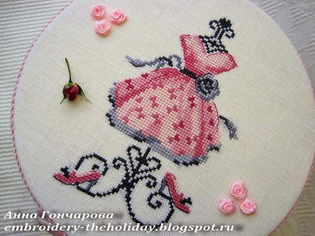 Винтажная шкатулка с вышивкой