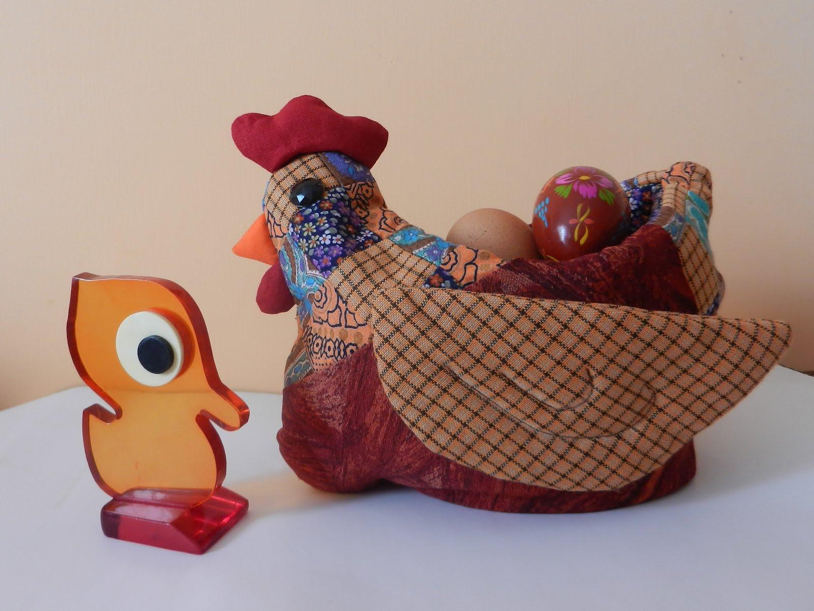 Лоскутная курочка к Пасхе