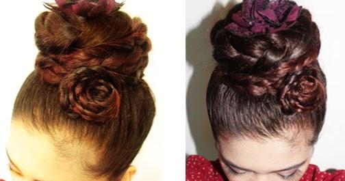 Beautyklove Rosette Braided Bun Updo Easy Wedding Hairstyle