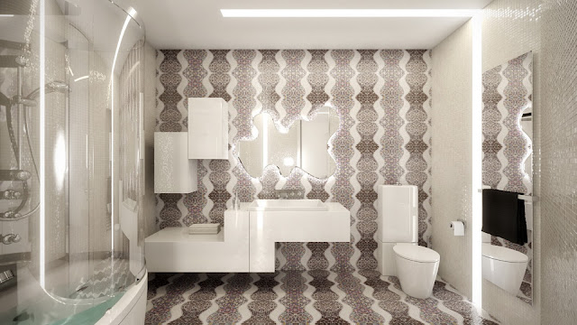 Ванная комната в ЖК Доминион