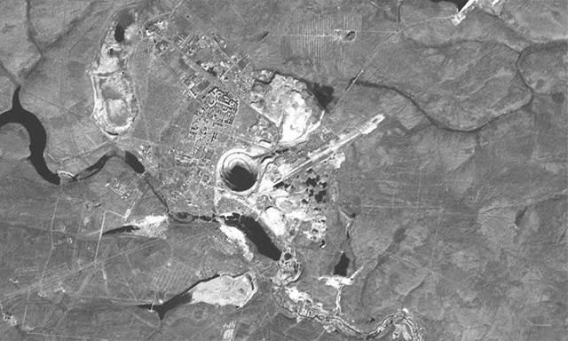 pandangan satelit mir mine russia