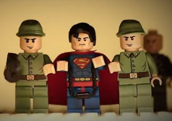 Legos, Superman, Man of Steel