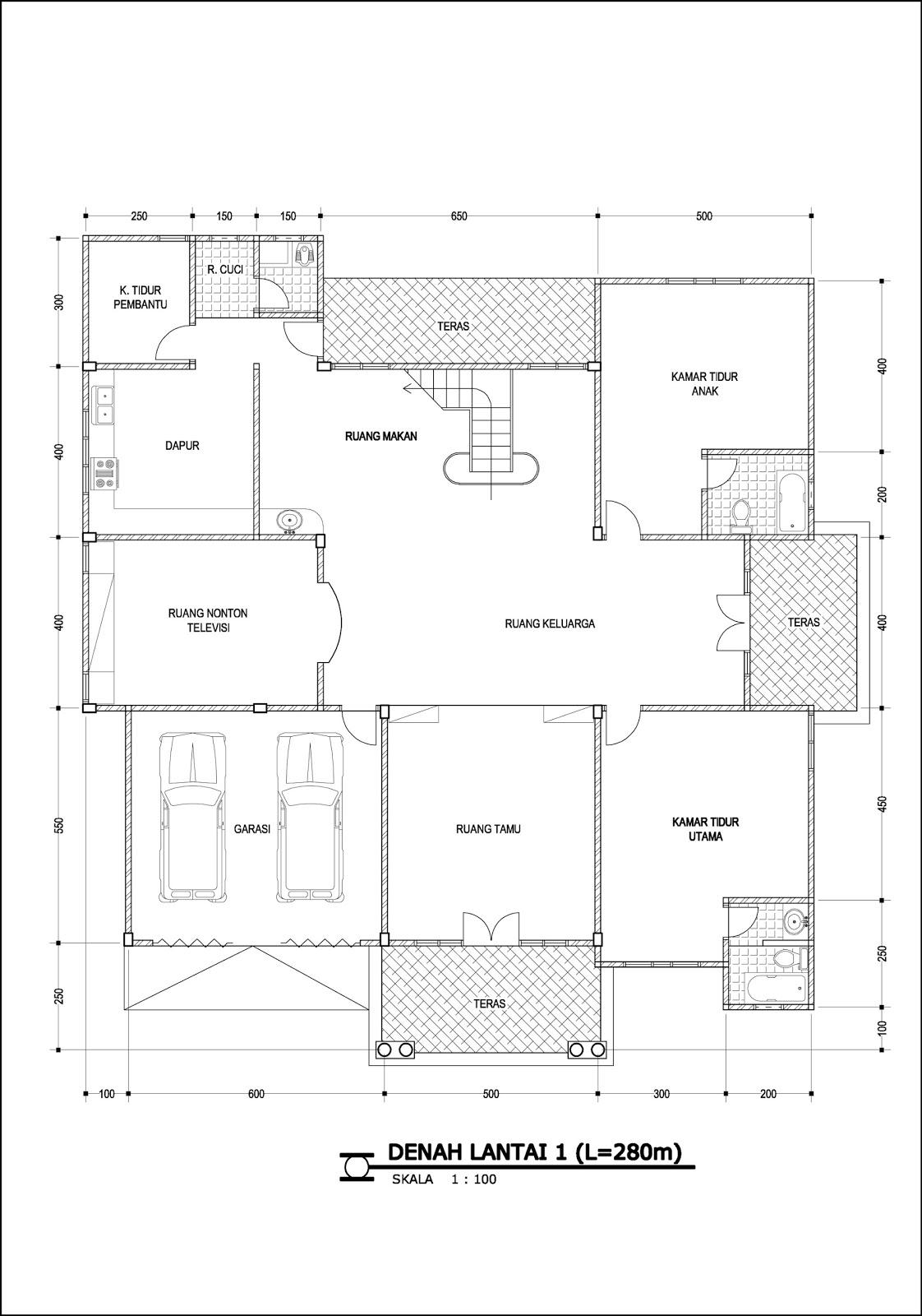 Contoh Denah Rumah Home Design 86