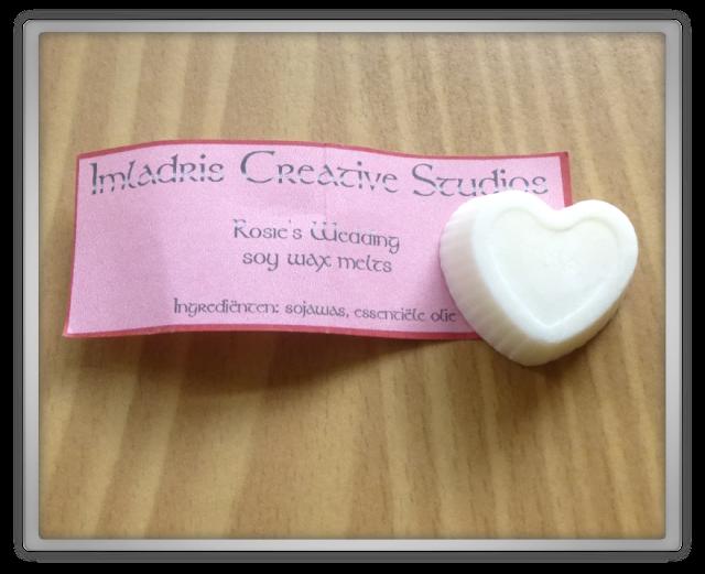 Imladris Creative Studios Rosie's wedding wax melt Gamila Secret Wild rose face oil