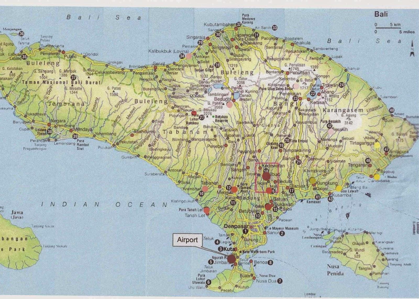 Kaart bali kaart kaart bali 2017 map of bali overzichtelijke kaart bali tico reis consult bali landkaart bali map plattegrond van bali map bangli rob korpelshoek altavistaventures Gallery