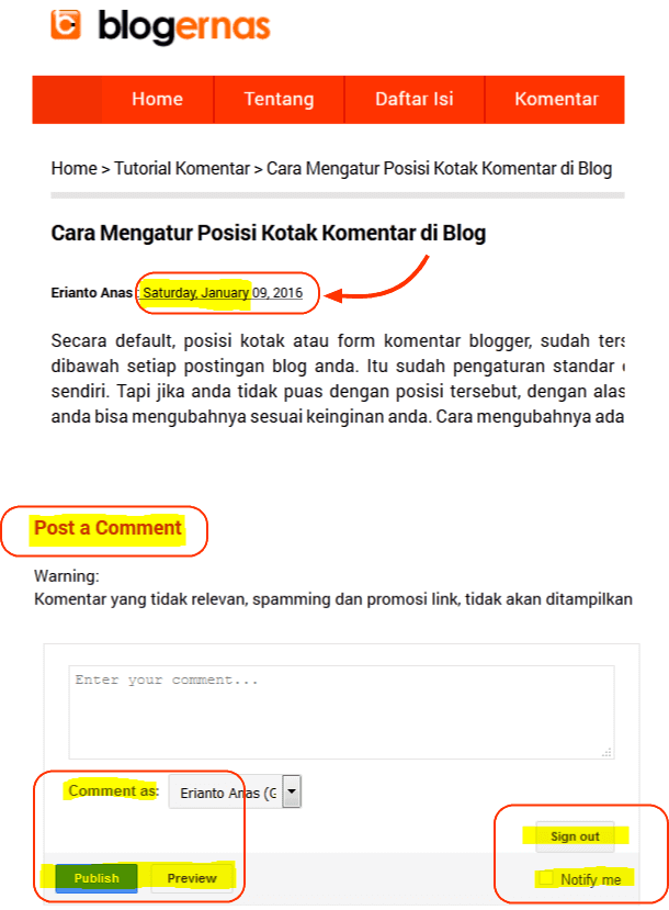 Cara Mengganti Bahasa pada Blog Blogger.com