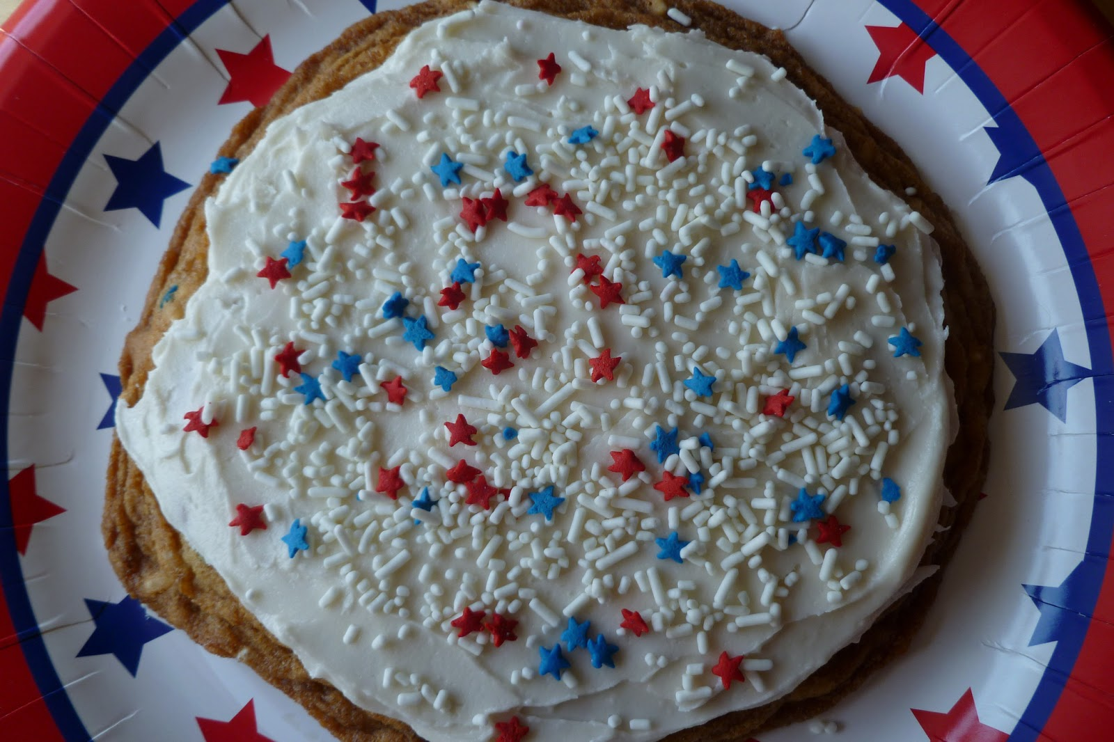 The Pastry Chef's Baking: Giant Sugar Cookie - Happy Birthday USA!