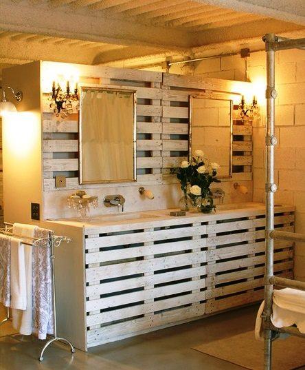 Muebles Para Baño Hechos Con Palets:Bathroom Pallet Furniture
