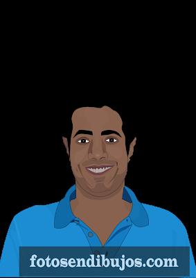 Dibujo de rostro masculino